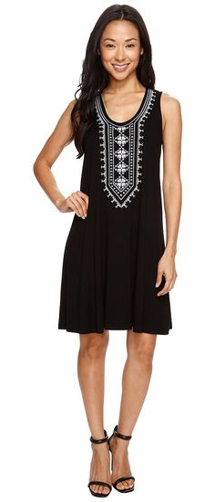 Karen Kane Embroidered Sleeveless Dress (Black) Women's Dress - Karen Kane, Embroidered Sleeveless Dress, 1L13665-001, Apparel Top Dress, Dress, Top, Apparel, Clothes Clothing, Gift, - Street Fashion And Style Ideas