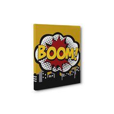 Yellow Superhero City Logo Boom