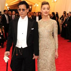 Pin for Later: Johnny and Amber Make a Surprise Met Gala Stop
