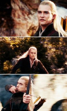 Legolas's faces strike back in The Hobbit: The Desolation of Smaug!