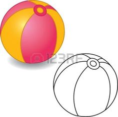 Coloring book. Ball illustration jouet. Isol� sur fond blanc. photo