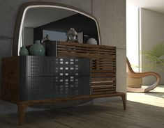 FLUX collection Designed by Çağtay Döner. on Behance Lcd Unit Design, Beige Living Rooms, Dining Room Buffet, Urban Decor, Wood Cladding, Modern Bedroom, Modern Bedding, Luxury Bedding, Bedroom Furniture Design