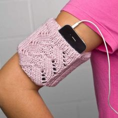 knitted iPhone armband.