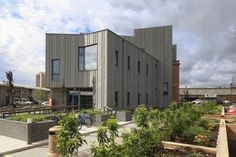 Creative Industries Building Weavers Court in Belfast (Ireland - UK) by Doherty Architects, Belfast Contractor: DM Specialist Roofing  Copyright : Paul Kozlowski #QuartzZinc #Façade #Cladding #Ireland #UK #UnitedKingdom #Project #Aesthetics #Architecture #Aesthetic #Bricks