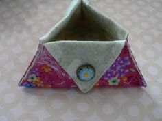 Result:  Very quick and much loved by fellow stitchers!  Triangular Thread Catcher tutorial - these are very fun and quick to make.
