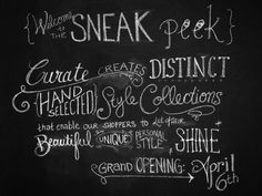 curate boutique chalk wall Chalk Wall, Grand Opening, Chalkboard Quotes, Art Quotes, My Design, Personal Style, Let It Be, Boutique, Random