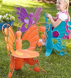 orange butterfly chair, wow! do they make a grown up version this is awesome!