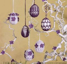 Обвязка для пасхальных яиц - 3 схемы