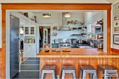 Way to open small kitchen by knocking down wall, adding counterspace via http://www.houzz.com/ideabooks/5855031/list?utm_source=Houzz_campaign=u211_medium=email_content=gallery6