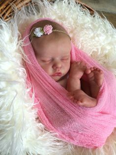 Twin B Bonnie Brown reborn doll. Created by Mary Anderson Dolls.