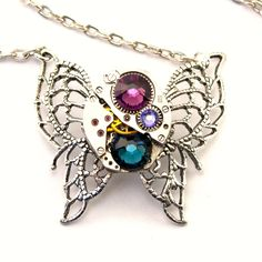 Steampunk Necklace  Beautiful Purple Amethyst by LondonParticulars, $55.00