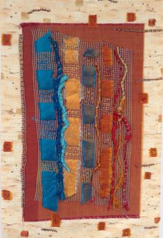 Fiber Art Wall Hanging by StitchesnQuilts