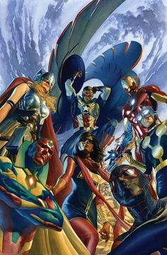ALL-NEW, ALL-DIFFERENT AVENGERS #1 & 2 MARK WAID (w) • ISSUE #1 - ADAM KUBERT & MAHMUD ASRAR (A) ISSUE #2 - ADAM KUBERT (A) CoverS by ALEX ROSS