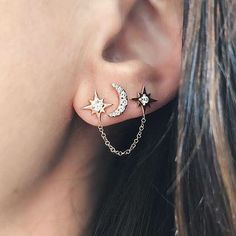 Trending Ear Piercing ideas for women. Ear Piercing Ideas and Piercing Unique Ear. Ear piercings can make you look totally different from the rest. Ear Jewelry, Cute Jewelry, Body Jewelry, Jewelry Accessories, Jewlery, Silver Jewelry, Prom Jewelry, Silver Choker, Girls Jewelry