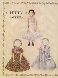 Hitty Paper Doll by Sue Shannon