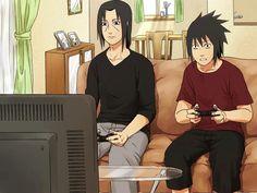 Itachi even beats Sasuke at video games. Poor Sasuke...