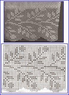 Kira scheme crochet: Scheme crochet no. Filet Crochet Charts, Crochet Motifs, Crochet Borders, Crochet Cross, Knitting Charts, Crochet Home, Thread Crochet, Crochet Doilies, Crochet Stitches