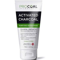 EXPERTLY Coded In Uk PROCOAL Charcoal Detox Mask has is developed and produced in the Uk using specifically selected ingredients to obvious clogged pores an Clay Face Mask, Clay Masks, Face Masks, Indian Healing Clay Mask, Best Blackhead Remover, Pore Cleansing Mask, Cucumber Face Mask, Mask For Dry Skin, Charcoal Face Mask
