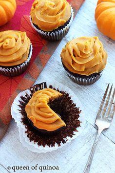 Paleo Halloween Chocolate Cupcakes | Gluten-Free | Queen of Quinoa