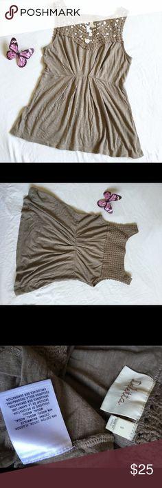 """Deletta crochet detail blouse B18 Deletta crochet detail blouse B18 Little worn with life !  Waist 14"""" Length 25"""" Anthropologie Tops Blouses"""