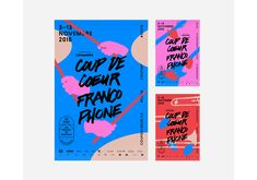 COUP DE COEUR FRANCOPHONE 2016 on Behance