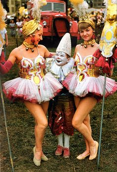 1940s-50s circus performers