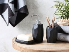 Contemporary and stylish, the Prism Charcoal bathroom accessories will complement any bathroom. Combine this range of accessories to add a modern touch to your bathroom.