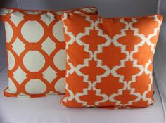 Retro Scatter Cushion Orange AND White Chevron Geometric Abstract Pattern | eBay