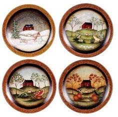 Primitive Plates Primitive Crafts Country Primitive Wood Crafts Country Crafts Craft Paint Tole Painting Primitives Folk Art  sc 1 st  Pinterest & Country Primitive Decorative Wall Plates......Dollar tree plates and ...