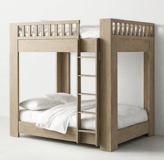 RH TEEN& Callum Bunk Bed:Sleep on it. Defined by its clean, contemporary lines and sturdy frame, our Callum collection is artisan crafted and hand finished for an authentically time-worn appearance. Teen Bunk Beds, Bunk Beds For Sale, Bunk Beds For Boys Room, Bunk Beds With Stairs, Cool Bunk Beds, Kid Beds, Boy Room, Sharing Bed, Teen Boy Bedding