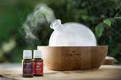 Young Living Essential Oils and Aria Ultrasonic Diffuser