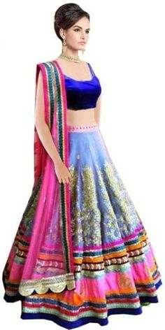 Shop Blue Lehengas from Mirraw