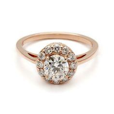Round Rosette Ring - Grand Halo – Anna Sheffield Jewelry