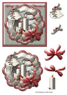 Christmas Sheets, 3d Christmas, Merry Christmas Card, Christmas Clipart, Vintage Christmas Cards, Christmas Items, Xmas Cards, Christmas Candles, Christmas Decoupage