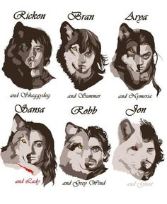 Dire Wolves and their masters
