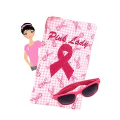 Pink Ribbon Glasses Case Breast Cancer by SEWsationalStitches