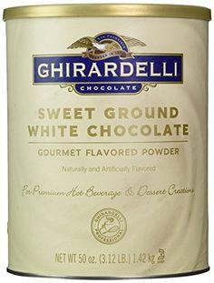 Ghirardelli Sweet Ground White Chocolate Flavor Powder, 3.12 lbs. - http://bestchocolateshop.com/ghirardelli-sweet-ground-white-chocolate-flavor-powder-3-12-lbs/