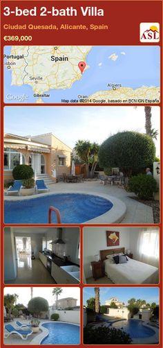 3-bed 2-bath Villa in Ciudad Quesada, Alicante, Spain ►€369,000 #PropertyForSaleInSpain