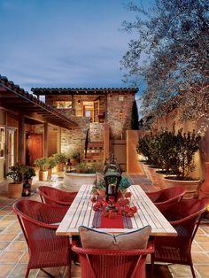 Decorative mediterranean secret patio dining furniture sets