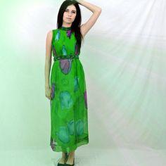 60's green silk dress - Google Search