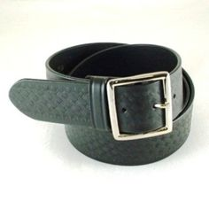 """$21.95      Have one to sell? Sell it yourself  GUN BELT Black Leather Basket Weave 1-3/4"""" Size 38"""