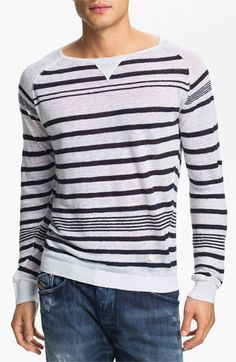 DIESEL® 'K-Lolli' Stripe Linen Sweater available at #Nordstrom