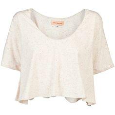 Otis Maclain Mae crop t-shirt ❤ liked on Polyvore