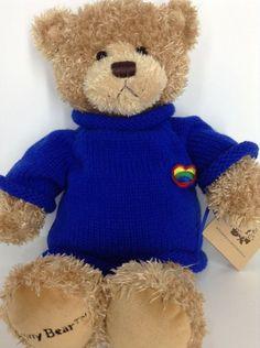 "Gund Penny Bear Friendship Teddy Plush Stuffed Animal 16"" 41cm Rainbow Heart #Frienship"