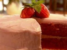 STRAWBERRY CAKE RECIPE: STRAWBERRY CAKE WITH CREAM CHEESE FROSTING