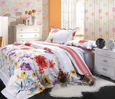 Orifashion 4 Pieces Bedding Set with printing of gorgeous florals pattern by Orifashion, http://www.amazon.com/dp/B008EHRPD6/ref=cm_sw_r_pi_dp_X2Fmqb0V3S0KA