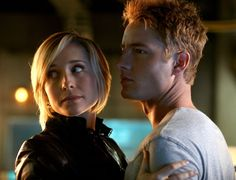 "Chloe and Oliver ""Smallville""  Chloe Sullivan and Oliver Queen."