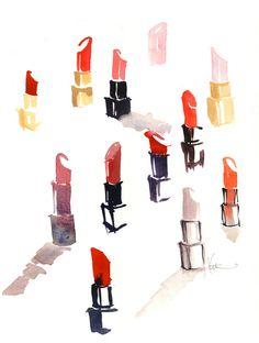 lipstick print by @Katie Schmeltzer Schmeltzer Schmeltzer Rodgers | Make up | Beauty