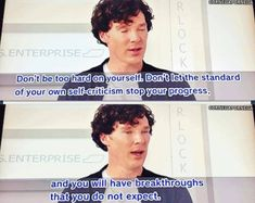 Words of wisdom courtesy of benedict cumberbatch