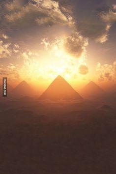 Sunset on Giza.